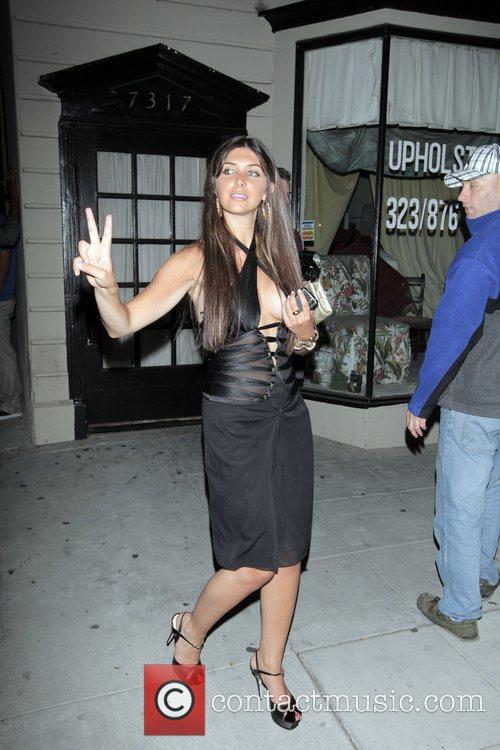 Brittny Gastineau Outside the Crown nightclub Hollywood, California