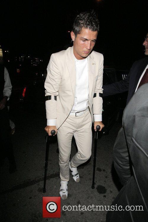 Cristiano Ronaldo Outside the Crown nightclub Hollywood, California