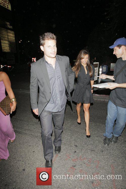 Nick Lachey and Vanessa Minnillo Outside the Crown...