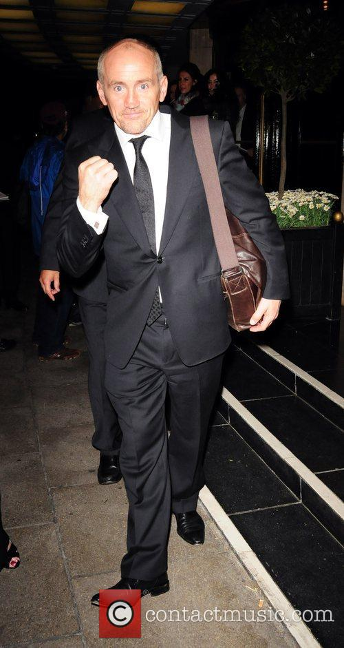 Barry McGuigan seen leaving the Dorchester Hotel in...