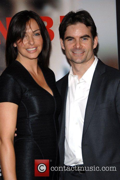 Jeff Gordon with wife Ingrid Vandebosch