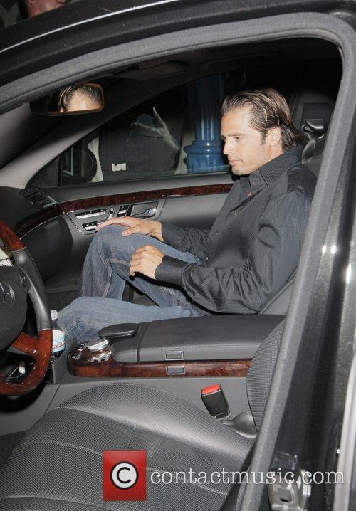 David Charvet leaving Foxtail nightclub Los Angeles, California
