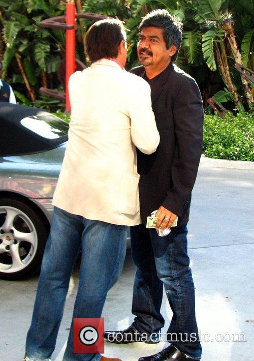 Andy Garcia and George Lopez  Greet each...