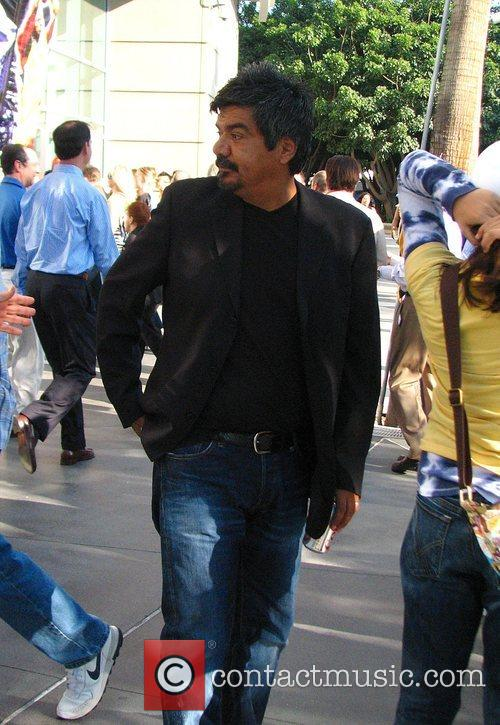George Lopez  outside the Lakers's Game Los...
