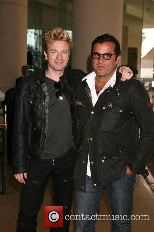 Ewan McGregor and friend at the Beverly Hilton 1