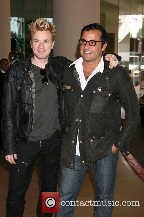 Ewan McGregor and friend at the Beverly Hilton 2