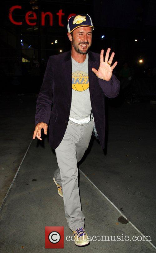 Leaving the Lakers game at the Staples Center