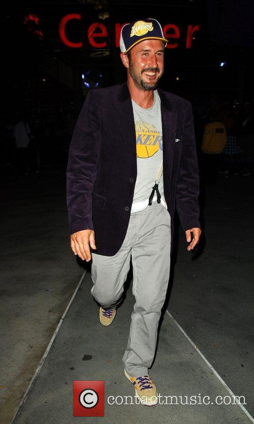 David Arquette Leaving the Lakers game at the...