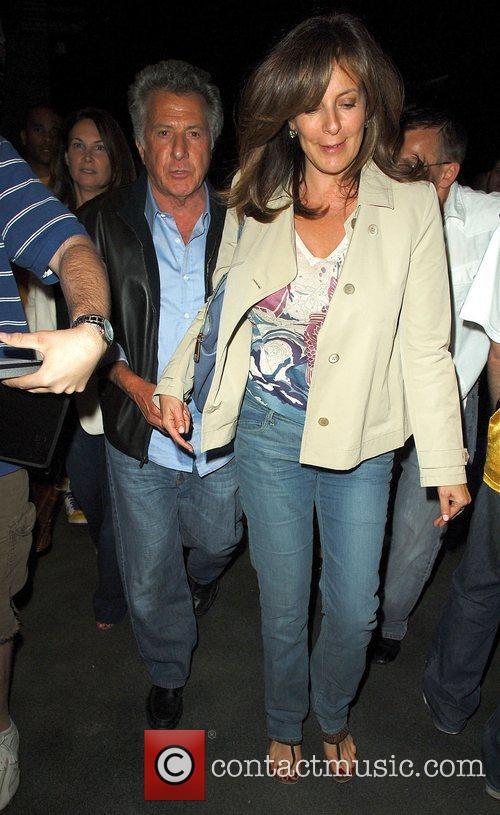 Dustin Hoffman with his wife Lisa Gottsegen Leaving...