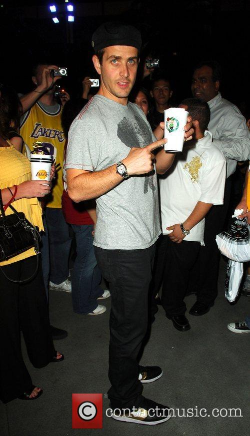 Joey McIntyre Leaving the Lakers game at the...