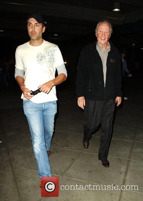 Jon Voight with his son James Haven Leaving...