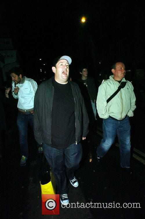 Johnny Vegas  leaves the Groucho private members...