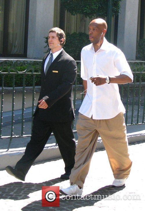 The Boston Celtics players leave the Beverly Wiltshire...