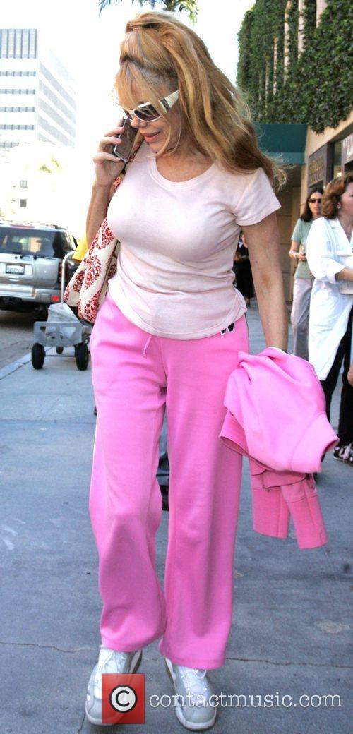 Charo  leaving a medical centre in Beverly...
