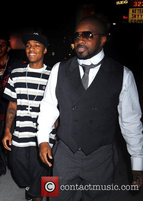 Lil' Bow Wow and Jermaine Dupri leaving the...