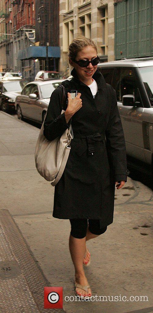 Chelsea Clinton walking around Soho New York City,...