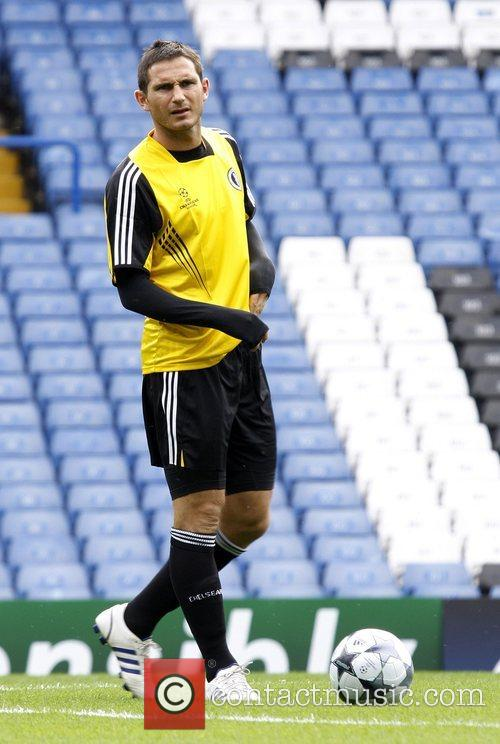 Chelsea training at Stamford Bridge ahead of the...