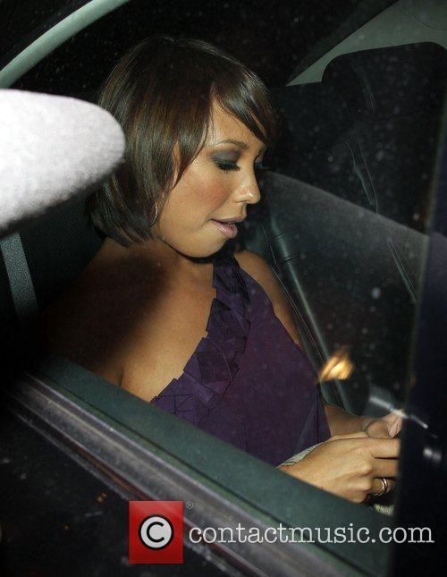 Cheryl Burke outside Green Door, she later left...