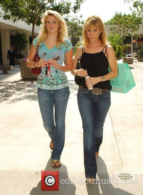 Cheryl Hines, Star Of Cable Tv Series 'curb Your Enthusiasm' and Her Daughter Shopping At Surly Girl On Robertson