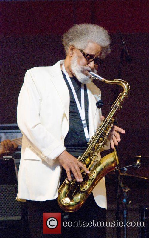 American jazz tenor saxophonist Sonny Rollins kicks of...