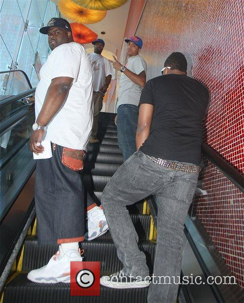 Chris Brown goes to the Beverly Center to...