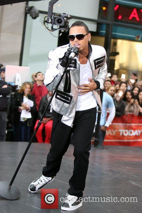 Chris Brown performs live on 'The Today Show...