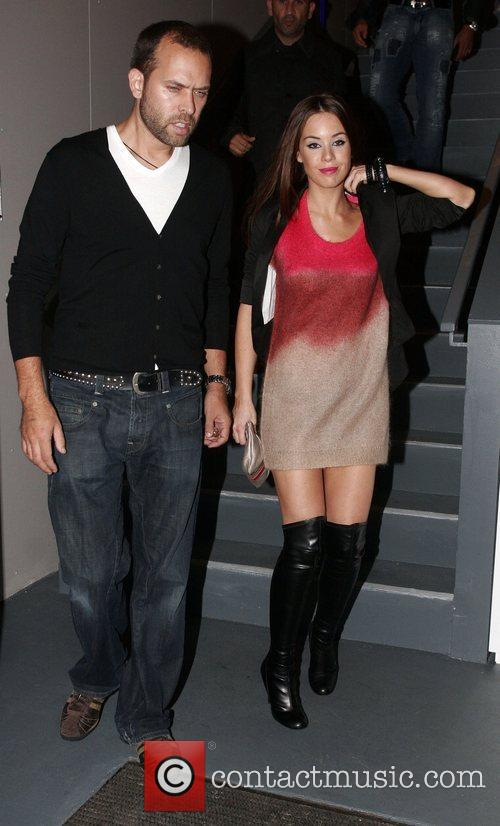 Roxanne McKee and guest arriving at Chris fountains...