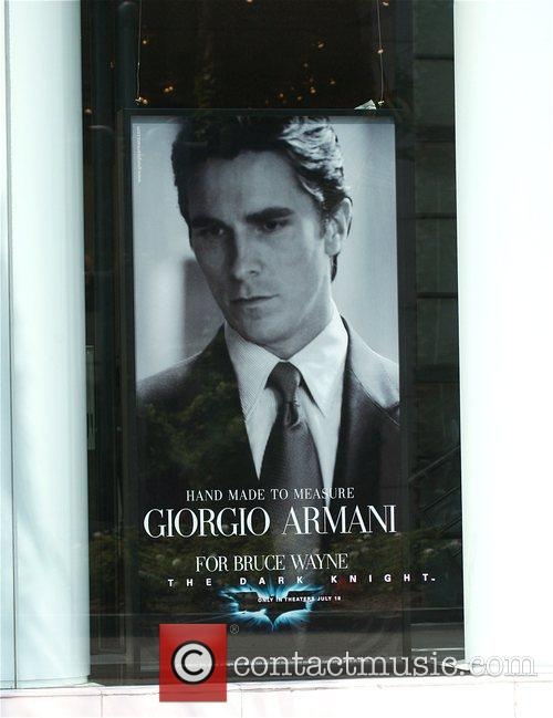 Christian Bale in an advert for Giorgio Armani,...