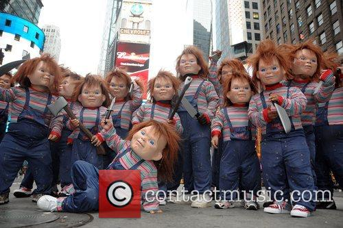 20 men and women dressed as 'Chucky' in...