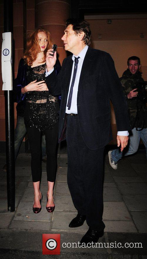 Lily Cole and Brian Ferry