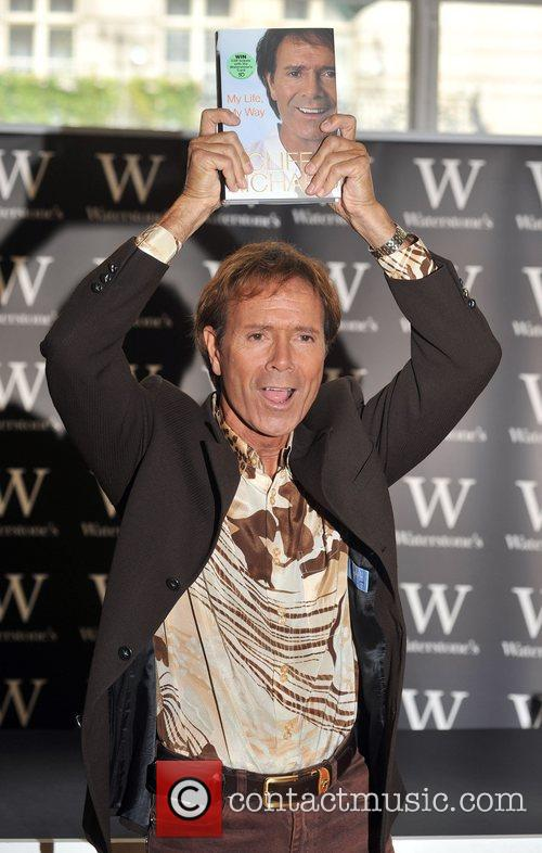 Cliff Richard  Signs his book 'My Life,...