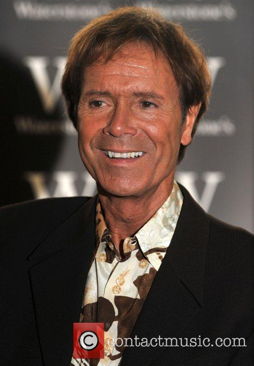 Sir Cliff Richard  Signs his book 'My...