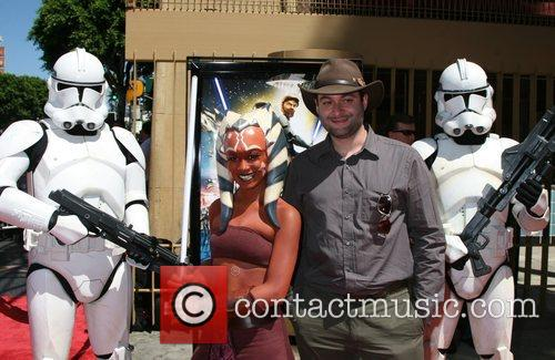Ahsoka Tano (character) With Dave Filoni and Egyptian Theater 1