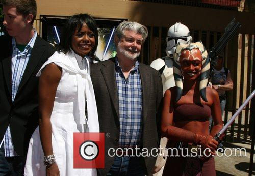 George Lucas, His Girlfriend Melody Hobson and Egyptian Theater