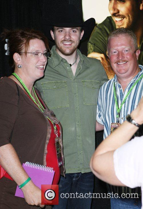 Chris Young meeting and greeting fans at the...