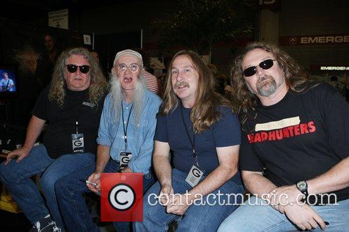 The Kentucky Headhunters meeting and greeting fans at...