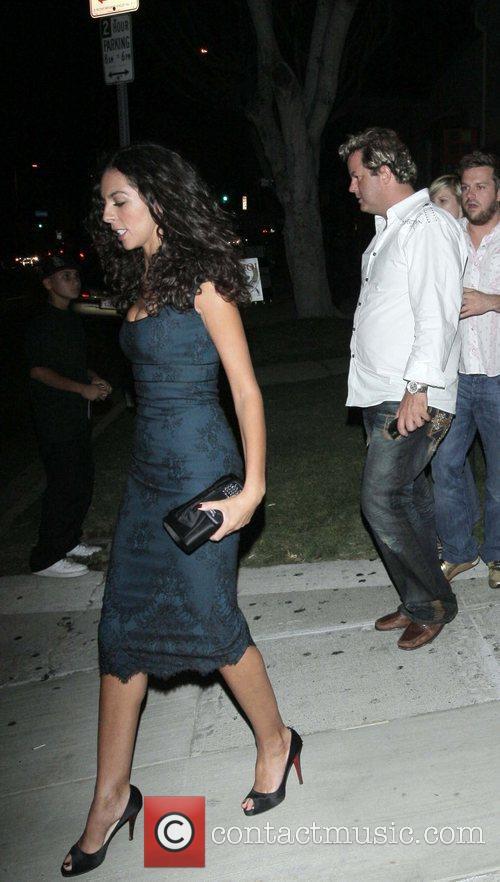Terri Seymour leaving Coco De Ville West Hollywood,...