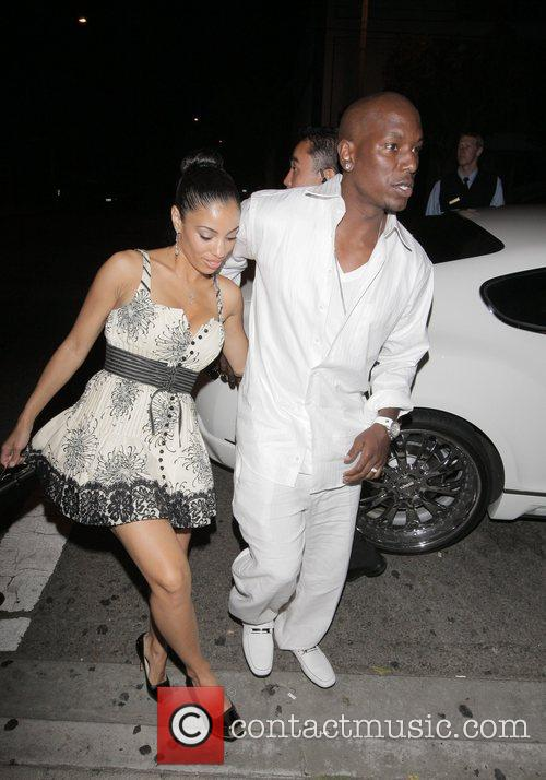 Tyrese Gibson and a female friend Arriving at...