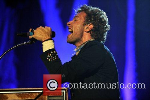 Coldplay performs live in concert at Madison Square...