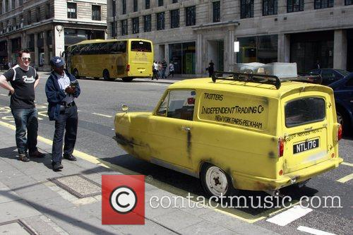 The 'Only Fools and Horses' yellow Robin Reliant...