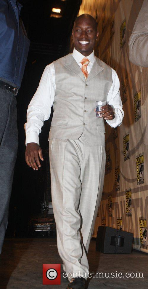 Tyrese Gibson promotes his new movie 'Death Race'...