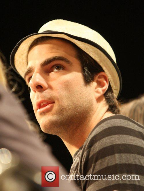Zachary Quinto cast of 'Heroes' promoting their show...