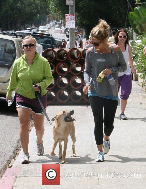Lauren Conrad going for a jog with a...