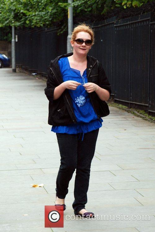 Jenny Mcalpine arriving to film scenes for coronation...