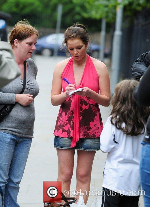 Helen Flanagan who plays Coronation Street's Rosie Webster flashes...