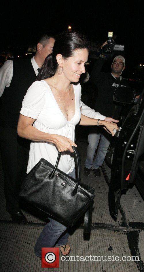 Courteney Cox leaving Il Sole Los Angeles, California