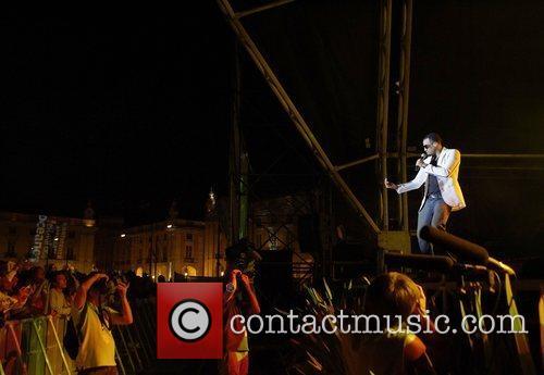 Performing live at Praca do Comercio