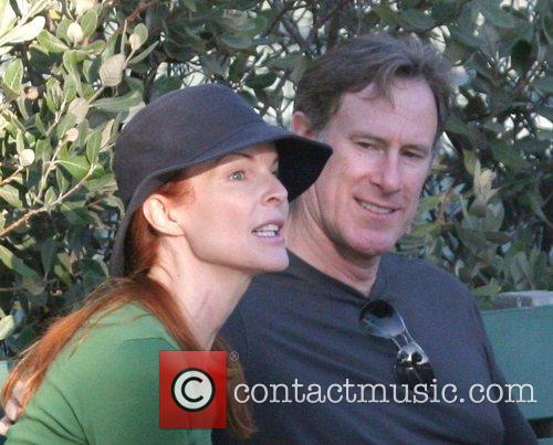 Marcia Cross and husband Tom Mahoney Spend some...