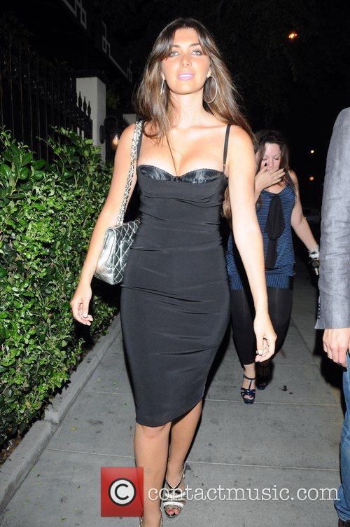 Brittny Gastineau leaving Crow Bar Los Angeles, California