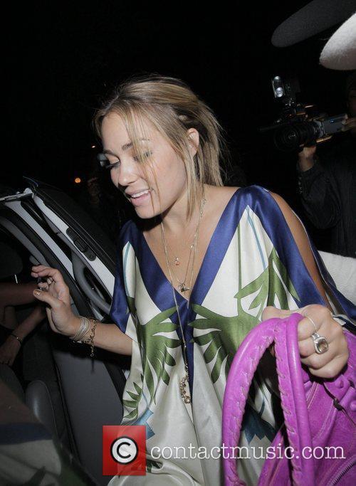 Lauren Conrad leaving Crown Club in Hollywood Los...